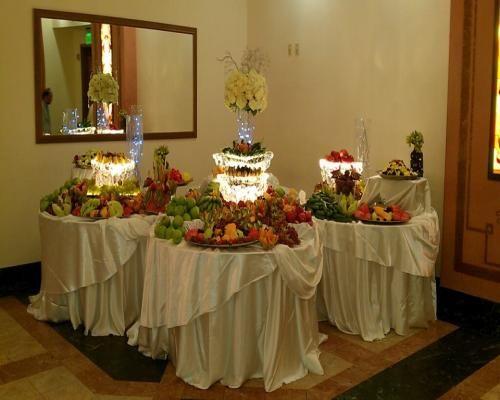 Fruit tables setup   50th Anniversary   Pinterest   Fruit tables ...