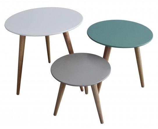 Tables gigognes color es stockholm lot de 3 sur tables for Table basse scandinave 3 suisses