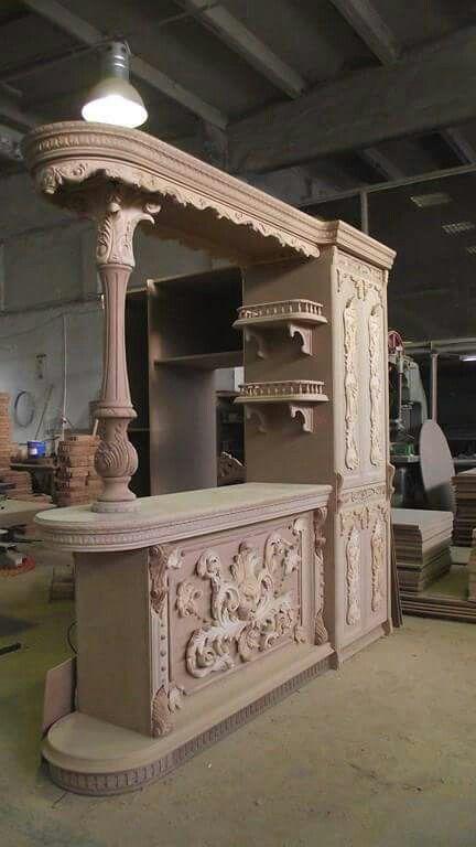 Cantina tallada Armario Pinterest Cantinas, Carpintería y Madera - muebles para cocina de madera