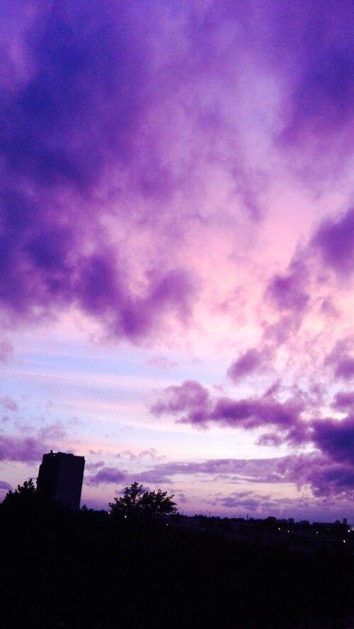 Purple Sky And Wallpaper Image Manzara Fotografciligi Manzara Gunbatimlari