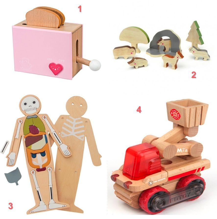 seleccin de juguetes de madera