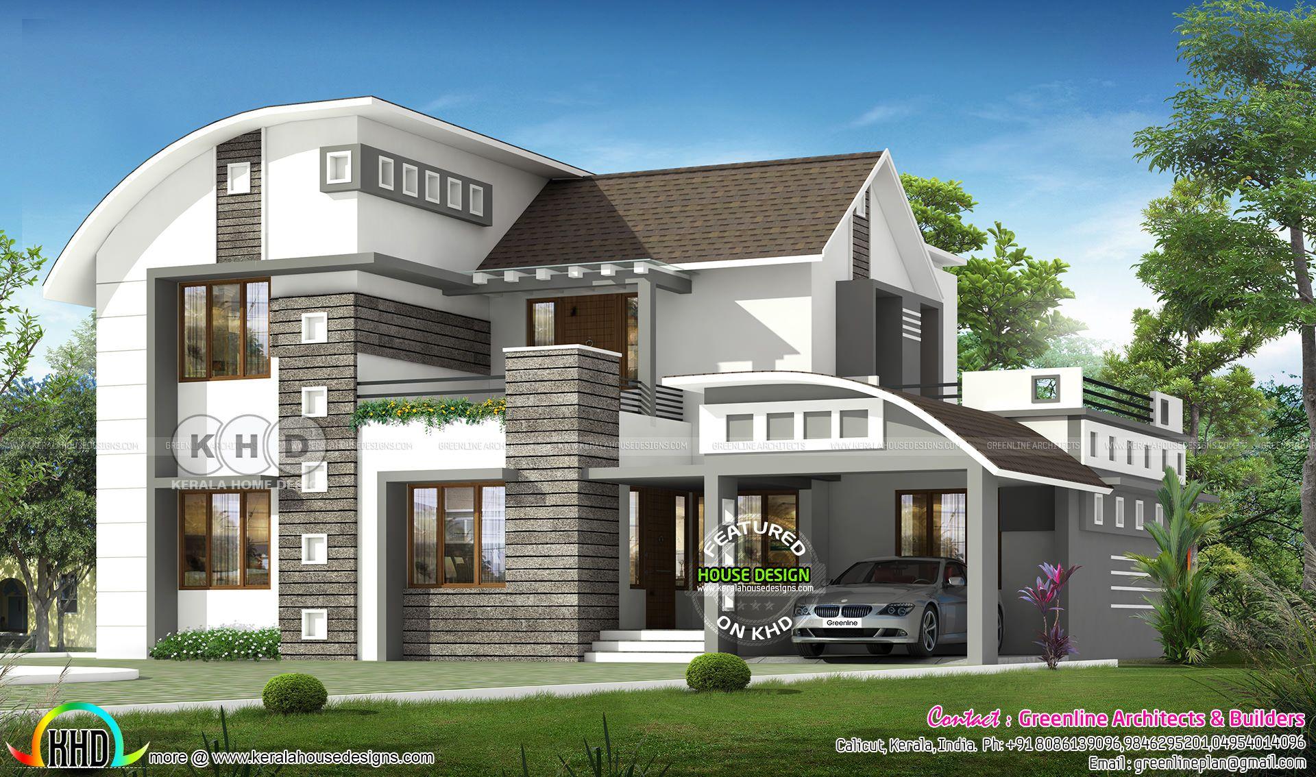 2750 square feet 4 bedroom contemporary home | Kerala ...