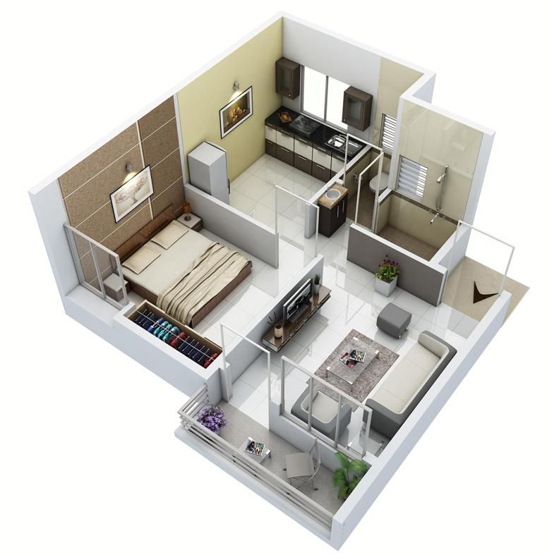 1 bhk home design