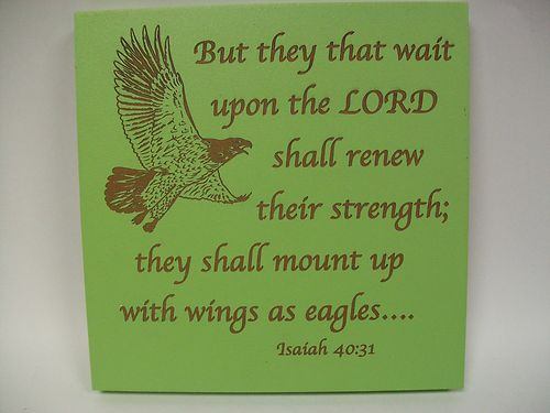 P. Graham Dunn wall plaque with a Bible verse ISAIAH 40:31