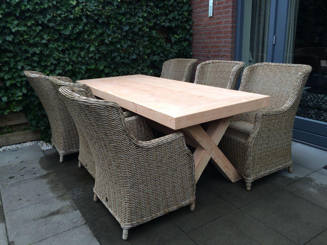 Maatwerk tafel douglashout ontwerp en realisatie www for Tafel ontwerp
