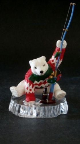 COCA COLA Bear Ice Fishing  Ornament CAVANAGH/'S CHRISTMAS 1994