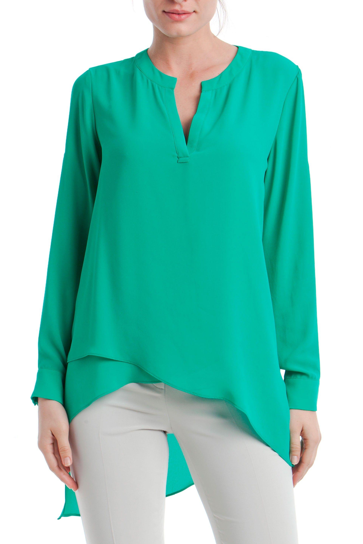 9479b8e50a887  BLUSA  ASIMÉTRICA CUELLO  MAO  PUNT ROMA 39.95€  estilo  moda  camisas