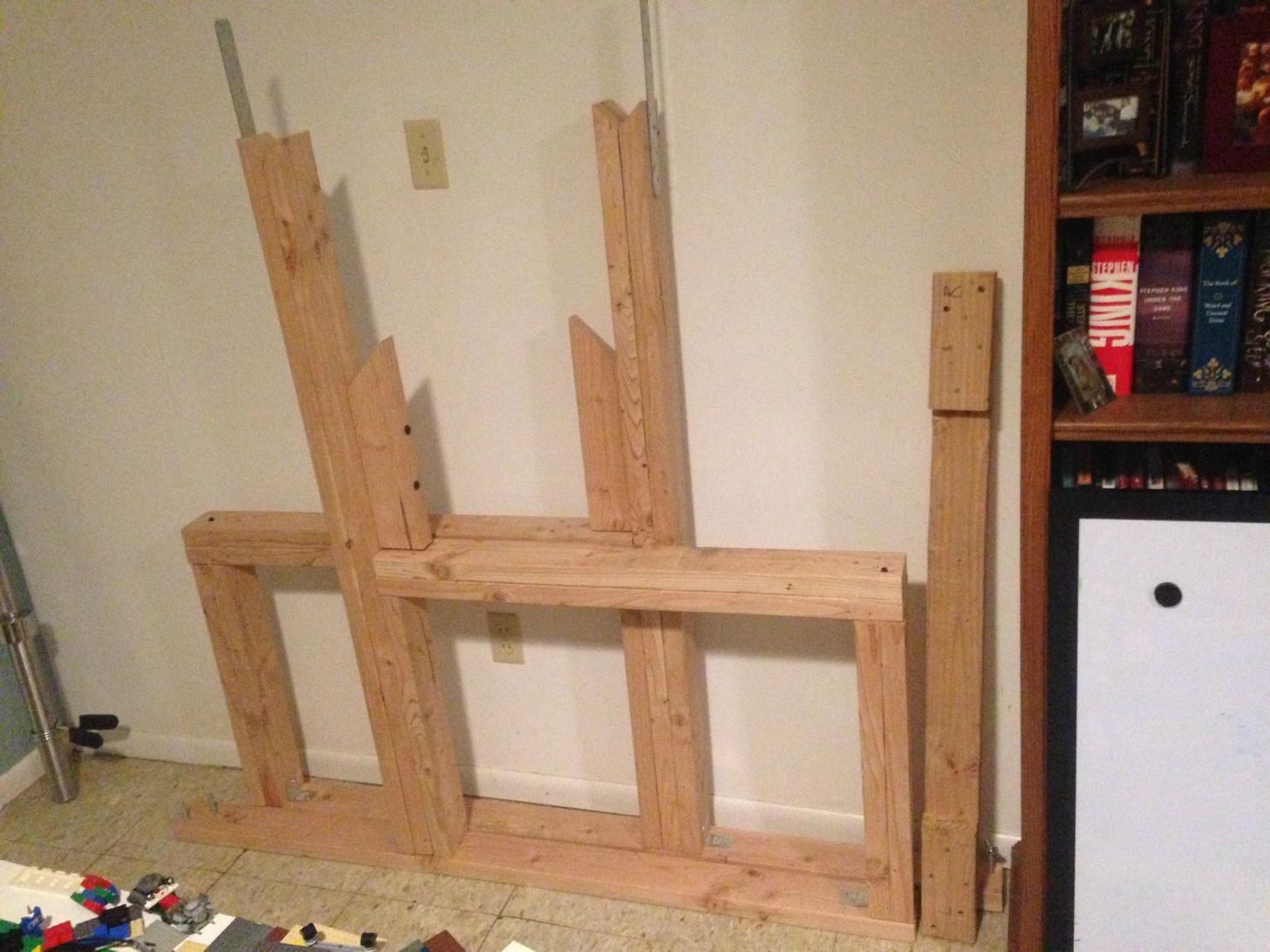 DIY Squat rack and bench press in 2020 Diy bench, Squat