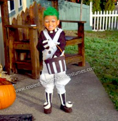 cute homemade oompa loompa costume for a boy - Oompa Loompa Halloween