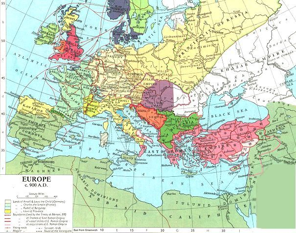 Europe In The Middle Ages From 500 Ad 1500 Ad Europe Map