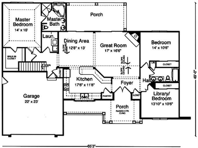 169 1020 House Plan Main Image Craftsman House Plans