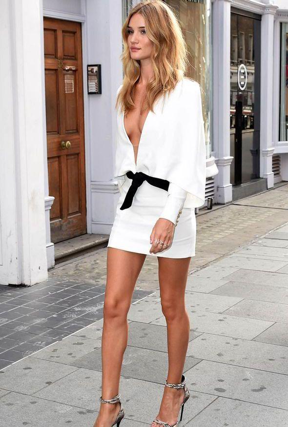 Rosie Huntington Whiteley Transformers White Dress