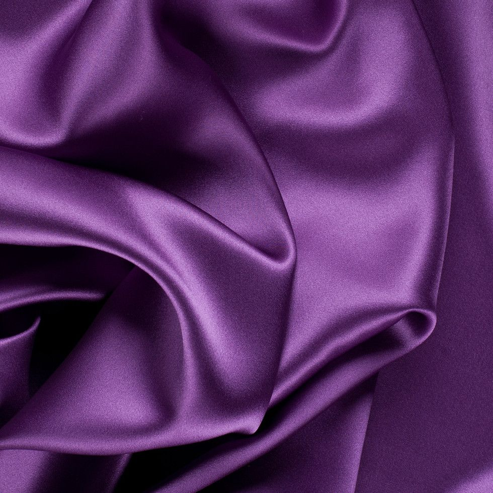 Fabric By The Yard Violet Stretch Silk Charmeuse