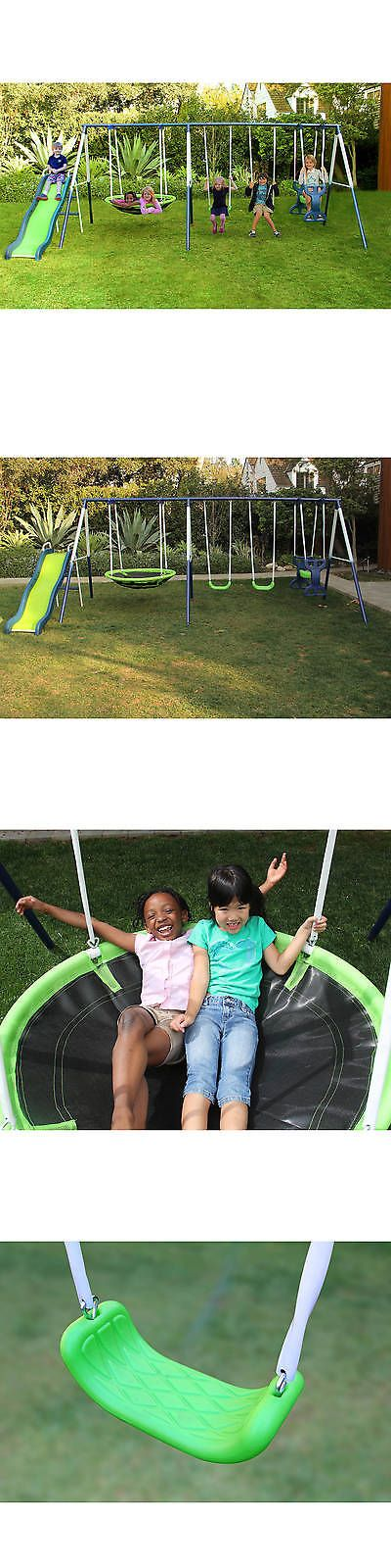 Swings Slides And Gyms 16515 Sportspower Rosemead Metal Swing And