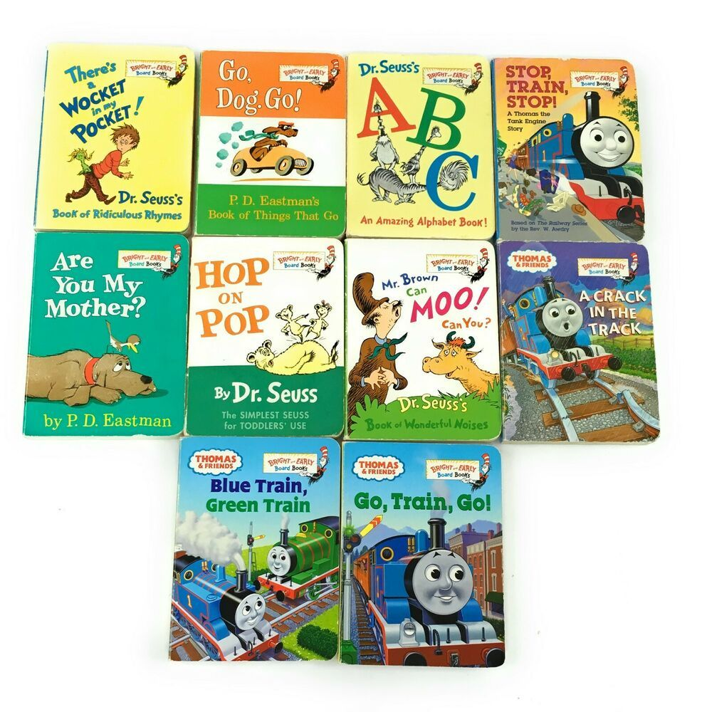 Dr seuss bright and early board lot 10 books baby toddler
