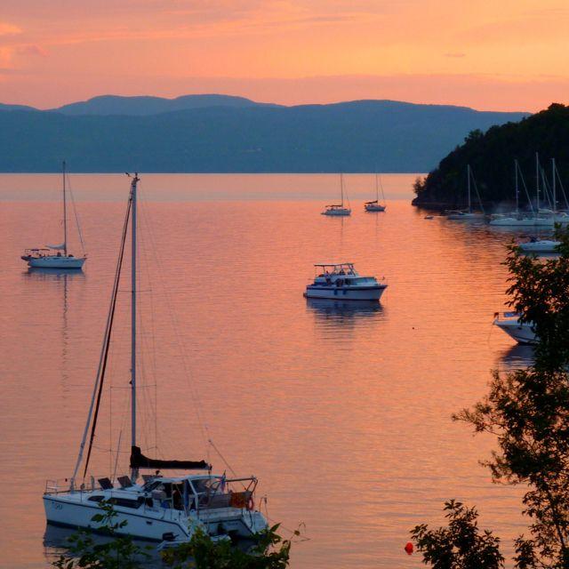 Sunset on Lake Champlain, Burlington, Vt
