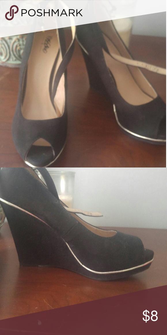 Wedge shoes Wedge shoes. Black velvet Missoni Shoes Wedges