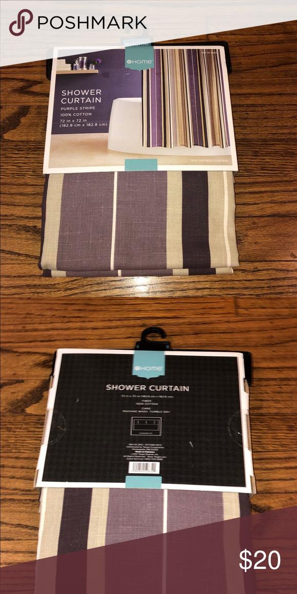 NWT Target Home Purple Stripe Shower Curtain NWT | Striped ...