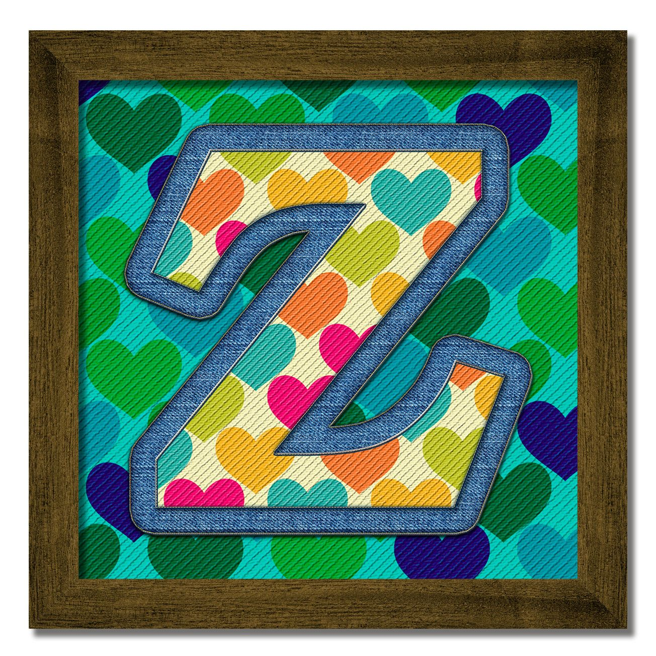 Cuadros Decorativos con las letras del alfabeto para formar nombres ...
