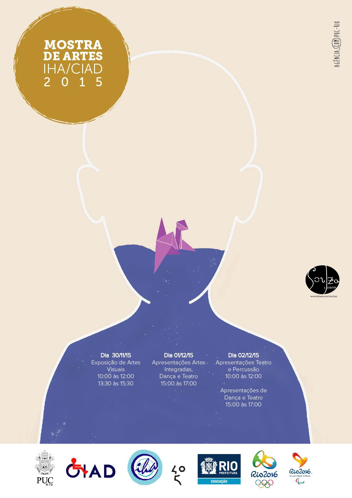 """Poster for IHA/CIAD's """"Mostra de artes"""" 2015 on Behance"""