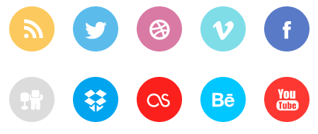 This free set contains 10 flat social media icons for sites like ...