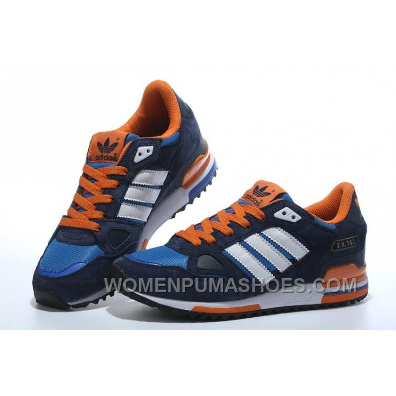 Adidas Zx750 Men Dark Blue White Orange Christmas Deals BewHb