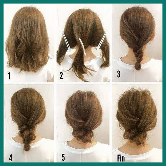 Easy Updo Hairstyles for Medium Hair - lilostyle