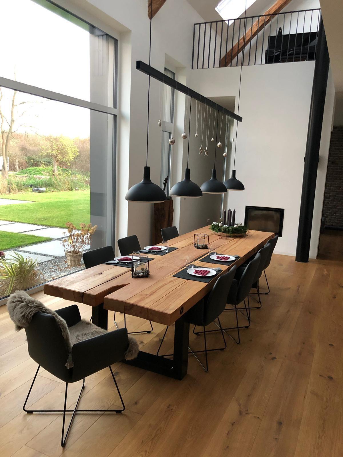 Baggermatten Esstisch Tafel 4 00x1 20m Individuelle Anfertigung 400x120m Anfertigung Dining Room Inspiration Dining Room Design Modern Dining Room