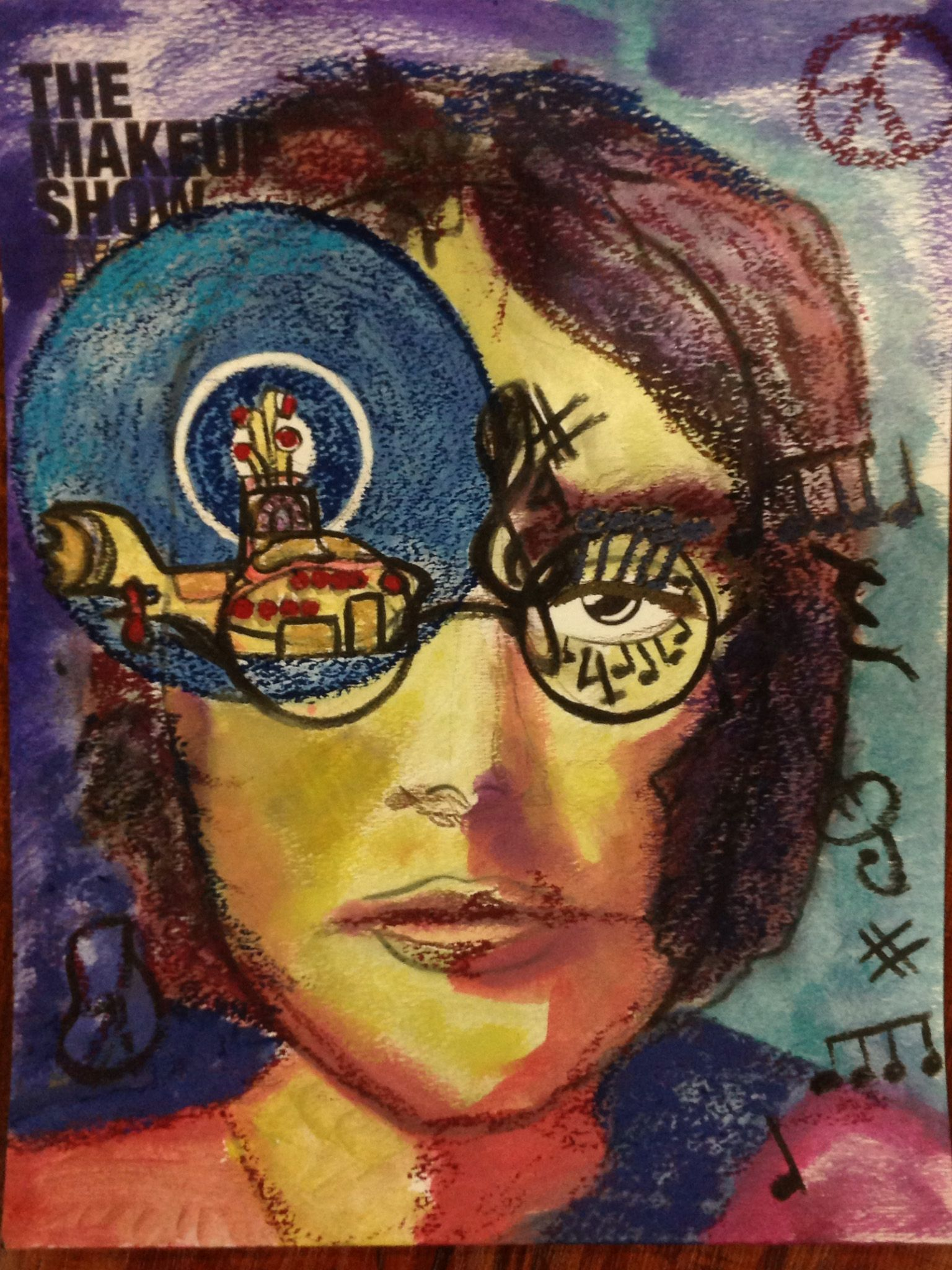 "The Makeup Show NYC's Face ChART contest has started! Here is one of our entries titled: ""Yellow Submarine - Beatles"". Join the contest and see if you have what it takes to create the best Face ChART in NYC!     The Makeup Show"
