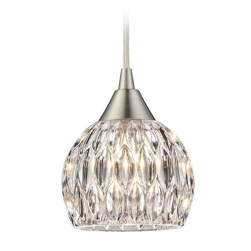 Crystal mini pendant light with clear glass mini pendant lights crystal mini pendant light with clear glass at destination lighting aloadofball Image collections