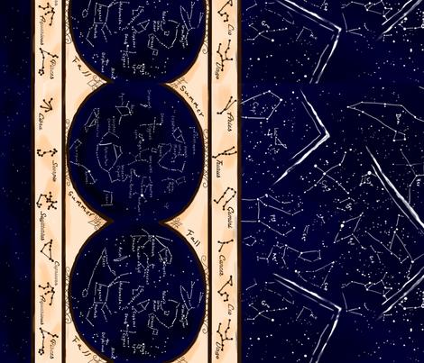Star Chart fabric by dreamer_emporium on Spoonflower - custom fabric