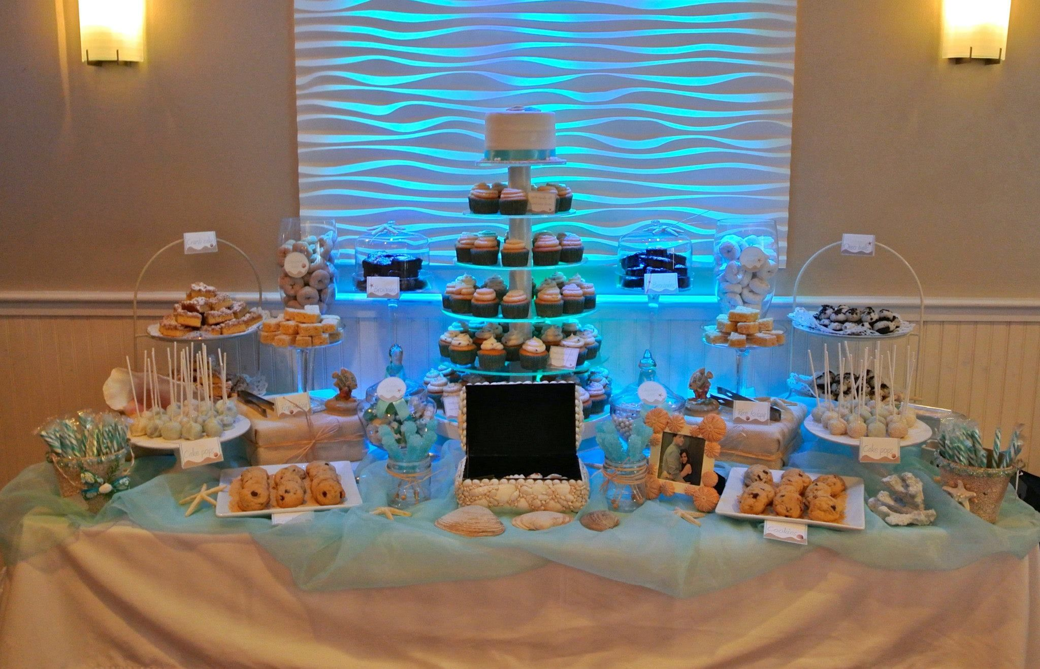 beach wedding cake table ideas theme dessert table dessert tables ideas 11191