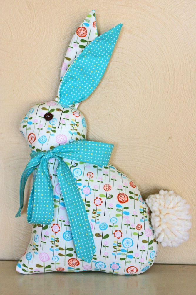 Image of Modern Folksy Bunny and Kitty   muñecas   Pinterest