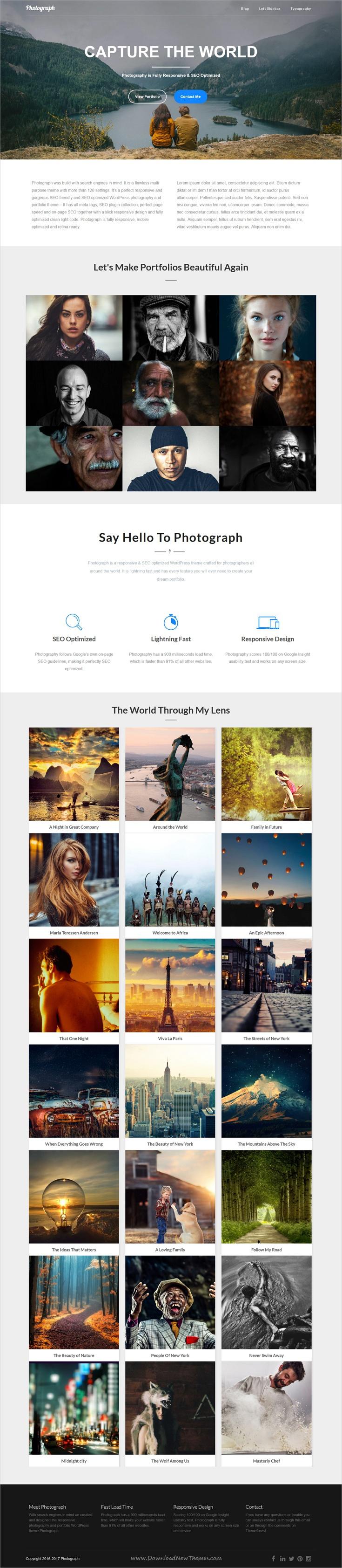 Asra - Minimalist Photography Portfolio WordPress Theme