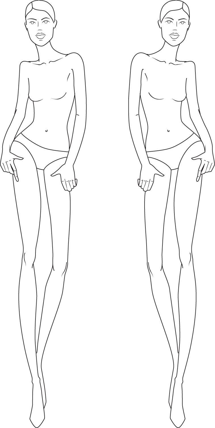 full figure croquis | Illustration Fashion Figures | Fashion stuff ...