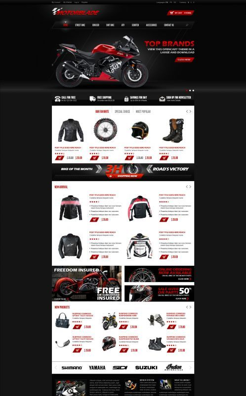 OpenCart Template for auto parts suppliers. This theme is a must ...