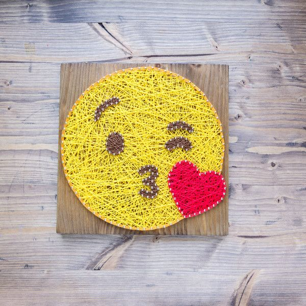 Emoji Wall Art Decor | Emoji, Decoration and String art