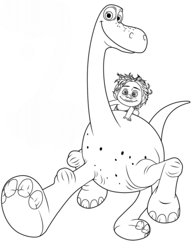 Arlo And Spot Coloring Page From The Good Dinosaur Category Select 25663 Printable Crafts Of Cartoons Nature Animals Bible Many More