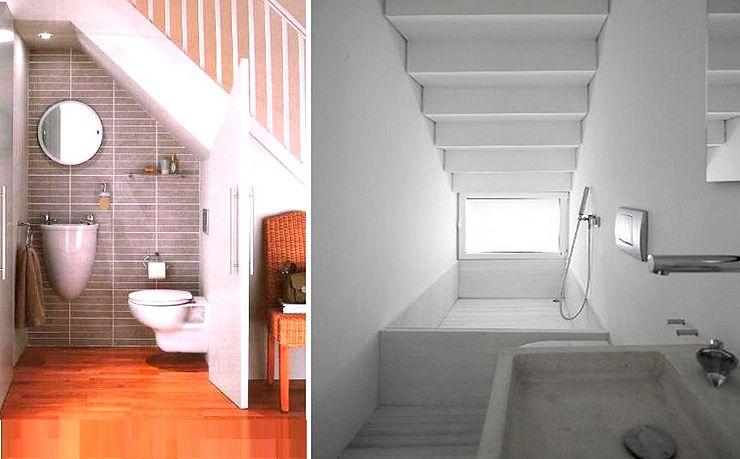 Banos Bajo Escaleras Modernos
