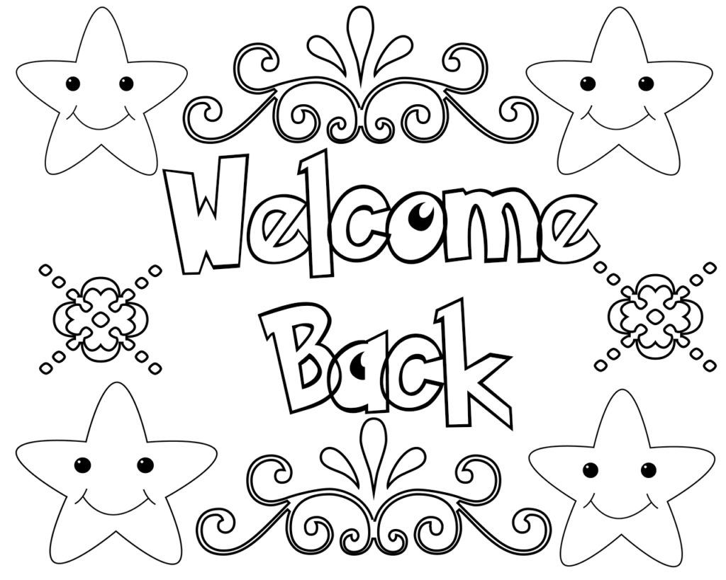 welcome back printable coloring pages  coloring pages
