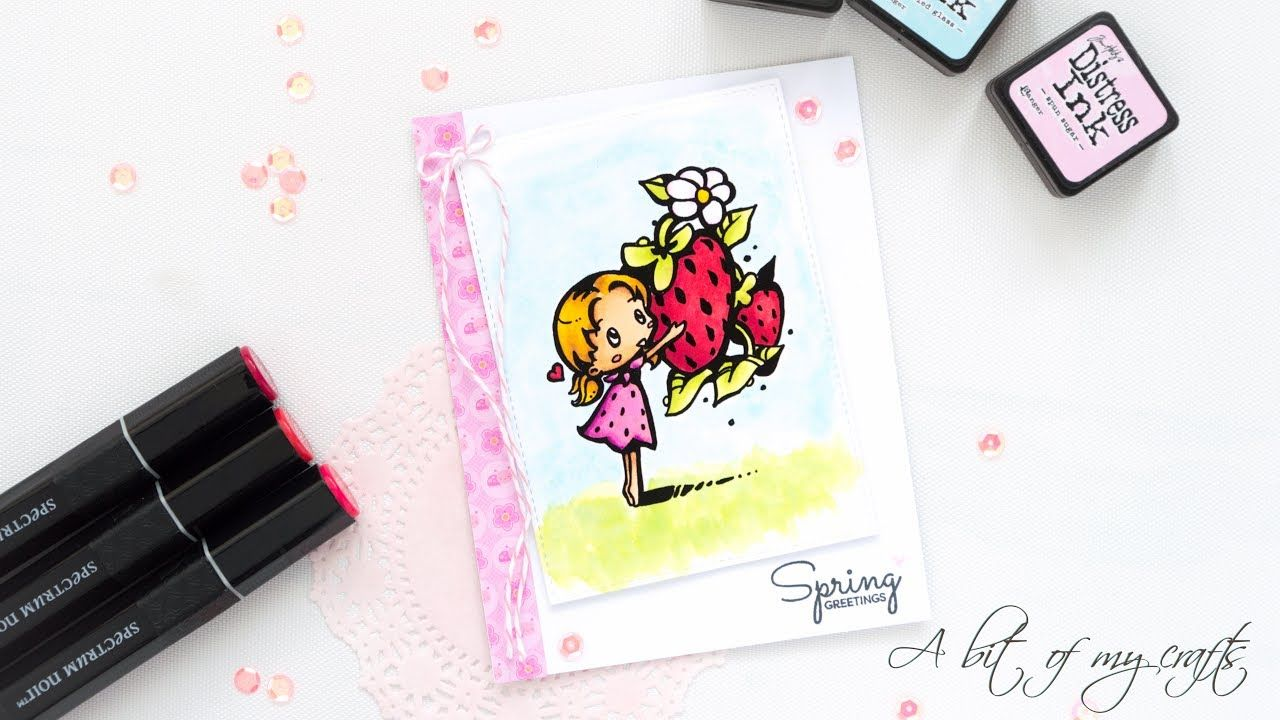 Friday Funday Challenge #190 DT Card feat StarStampz and Spectrum Noir markers