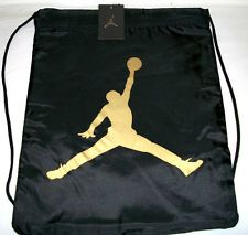 buy online 7513e 210d7 JORDAN JUMPMAN DRAWSTRING BAG BLACK GOLD
