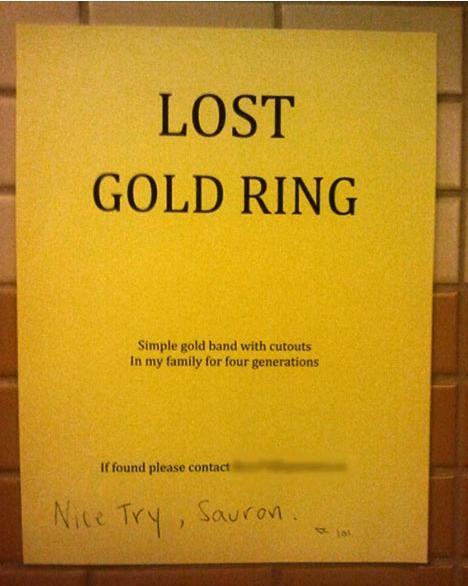 Nice try, Sauron.