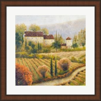 Tuscany Vineyard I By Michael Marcon Framed Art Multi Tuscany Vineyard Marcon Tuscan Design