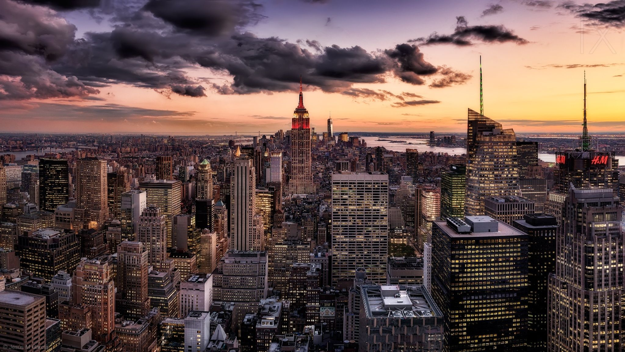 Sunset At Top Of The Rock By Jesus M Garcia The Rock Sunset Photo