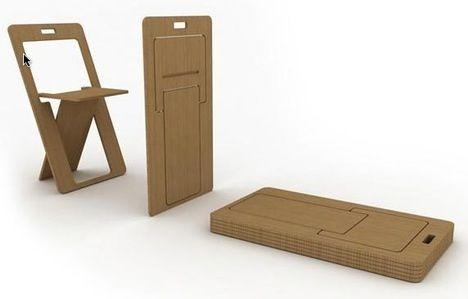 SHEETSEAT Cut From Single Sheet of Plywood designed by Ufuk Keskin and Efecem Kutuk via TreeHugger
