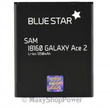 BATTERIA ORIGINALE BLUE STAR 3,7V 2500mAh LI-ION PER SAMSUNG GALAXY ACE 2 I8160 NERA BLACK NEW NUOVA IDEA REGALO - SU WWW.MAXYSHOPPOWER.COM