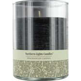 NEW MOON by New Moon ONE 4.5 inch GLASS PILLAR SCENTED CANDLE.  BURNS APPROX. 70 HRS.