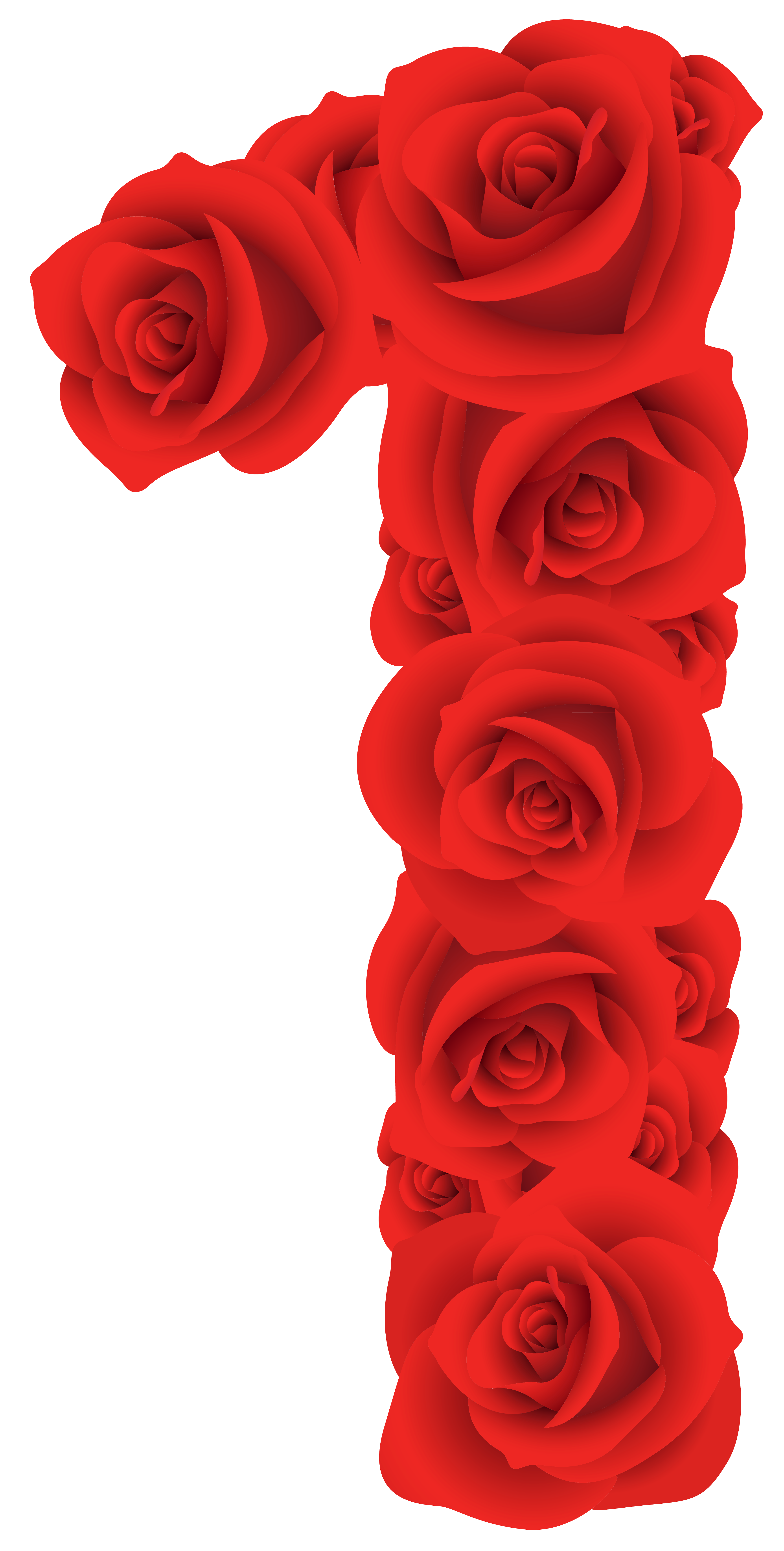 Red Roses Number One PNG Clipart Image Red roses, Clip