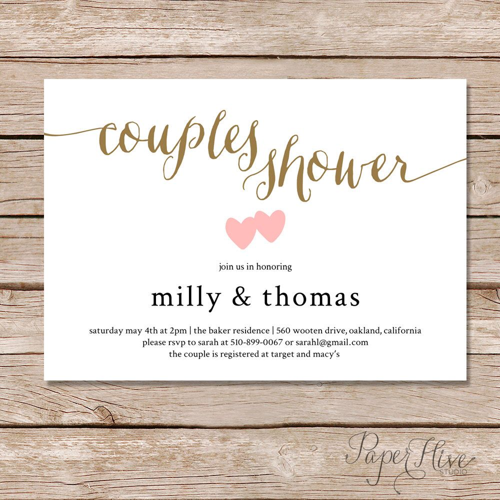 Couples Shower invitation / Couples wedding shower Invite / DIY ...
